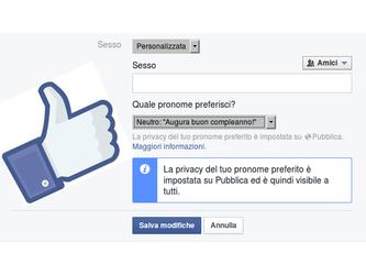 Da oggi l'identità di genere su Facebook è personalizzabile