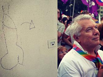 Omofobia%3A+imbrattata+la+casa+di+Vanni+Piccolo%2C+storico+attivista+lgbt