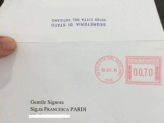 La fondatrice dello Stampatello scrive al Papa. E lui risponde.