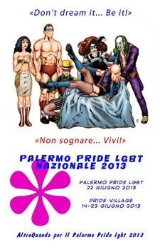 Una delle locandine di AltroQuando per il Palermo Pride 2013
