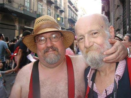 Filippo Messina (a sinistra) con Salvatore Rizzuto Adelfio al Palermo Pride 2013