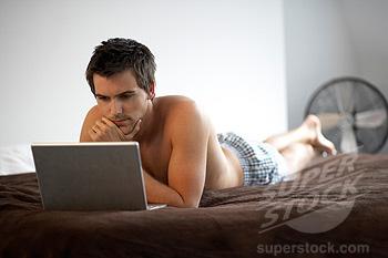 Gay attraente maschio avendo sesso