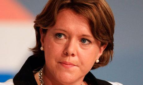 La ministra delle Pari Opportunità Maria Miller