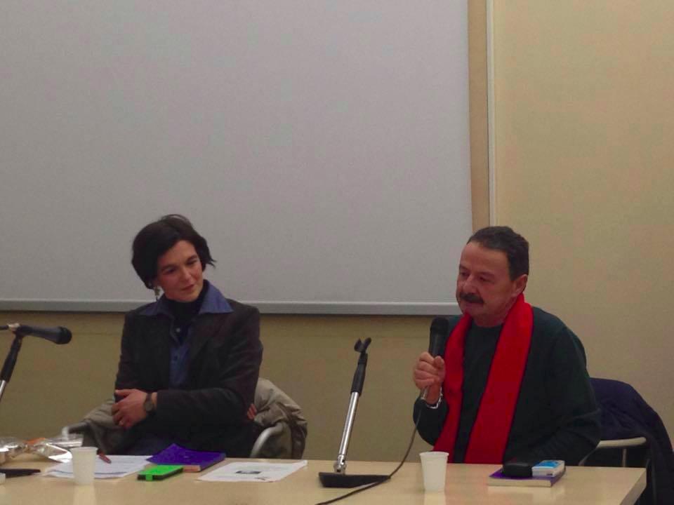 Nicola d'Ippolito durante la presentazione del suo ultimo libro