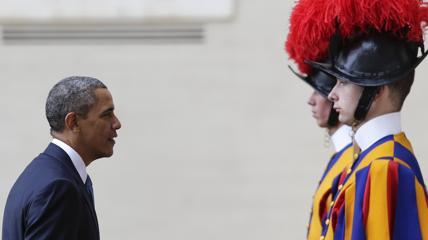 Barack Obama durante la visita di oggi a Roma