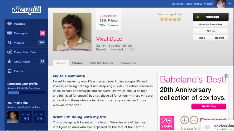 OkCupid sito di incontri