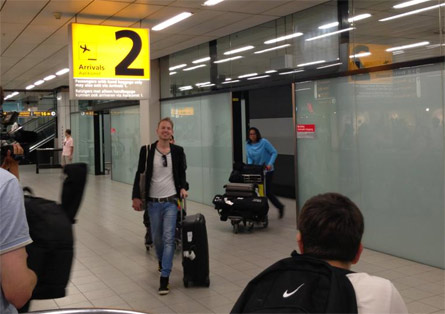 Kris van der Veen al suo ritorno in Olanda