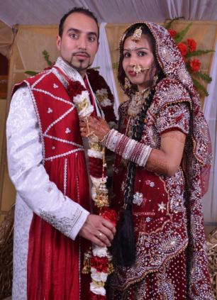 Jasvir Ram Ginday e la moglie Varkha Rani