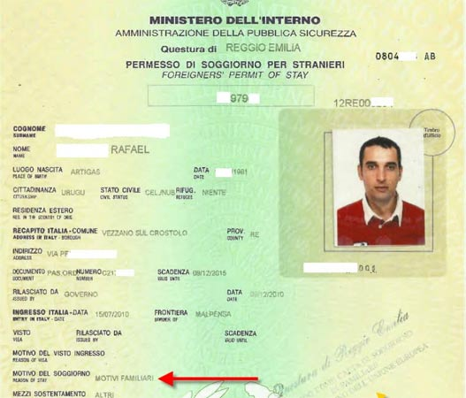 Uruguayano sposa un italiano: ottiene permesso di soggiorno ...
