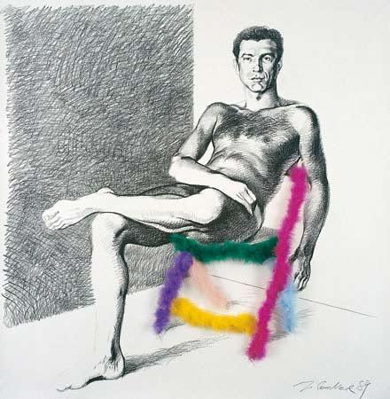 Ritratto di Aldo Busi di Marco Silombria