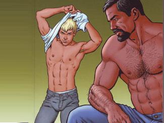 Papà e ragazzo gay porno