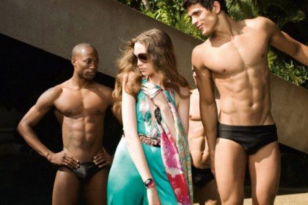 In piscina con Edilson Nascimento