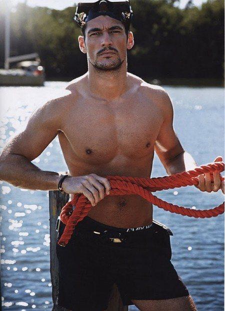 David Gandy, pescatore con Style