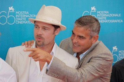 Le foto di Brad e George a Venezia