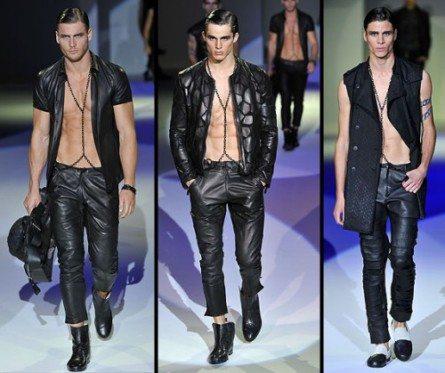 Nudi e leather per l'estate Armani
