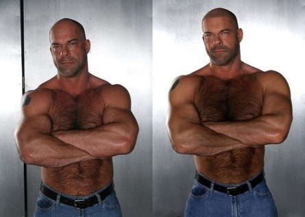 Da glabro a bear, le magie di Photoshop