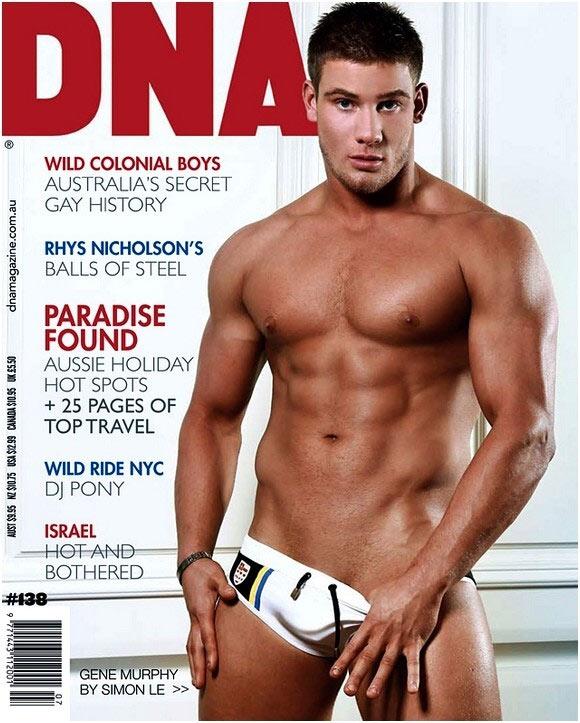 Gene Murphy è il coverboy dell'ultimo numero di DNA Magazine