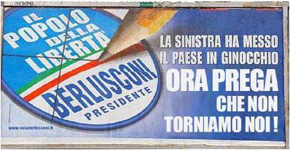 Elezioni 2008 - i manifesti taroccati
