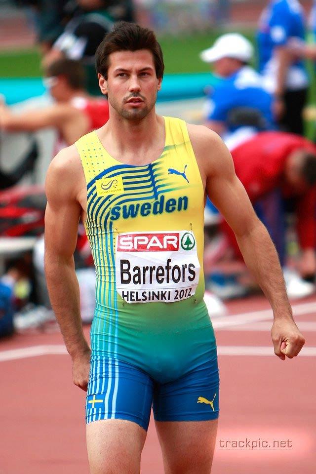 L'atleta svedese a Londra mette in mostra non solo i muscoli