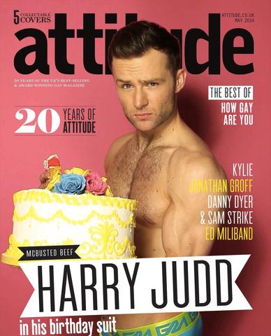 Harry Judd: il batterista nudo della copertina di Attitude