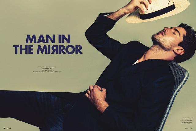 Il caliente Miguel Iglesias mostra la sua bellezza su Adon Magazine