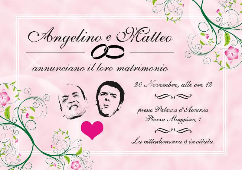 Matteo e Angelino, oggi sposi: il matrimonio che non avremmo voluto