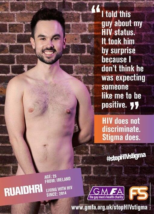 #stopHIVstigma: nudi per per dire basta allo stigma Hiv