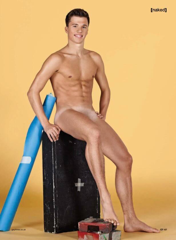 Freddie Woodward nudo su Gay Times: le immagini hot