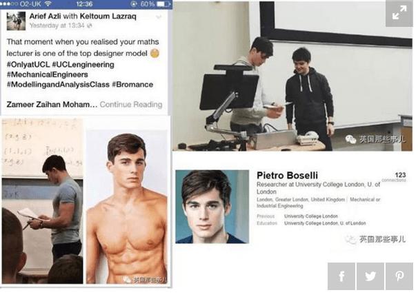 Pietro Boselli: nuova foto hot del tutor matematica più sexy al mondo