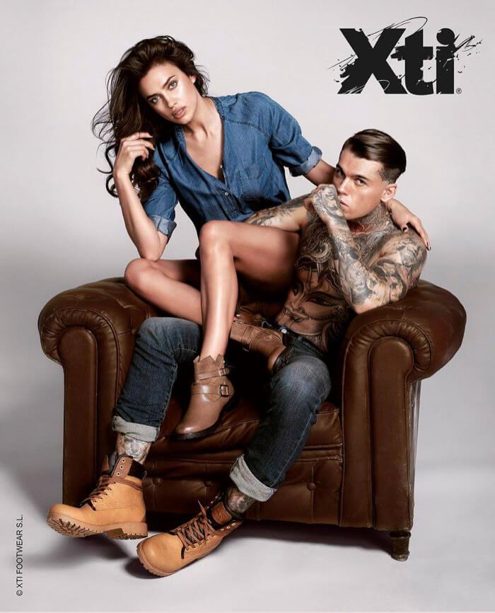 Stephen James e Irina Shayk super sexy nella campagna fall/winter XTI