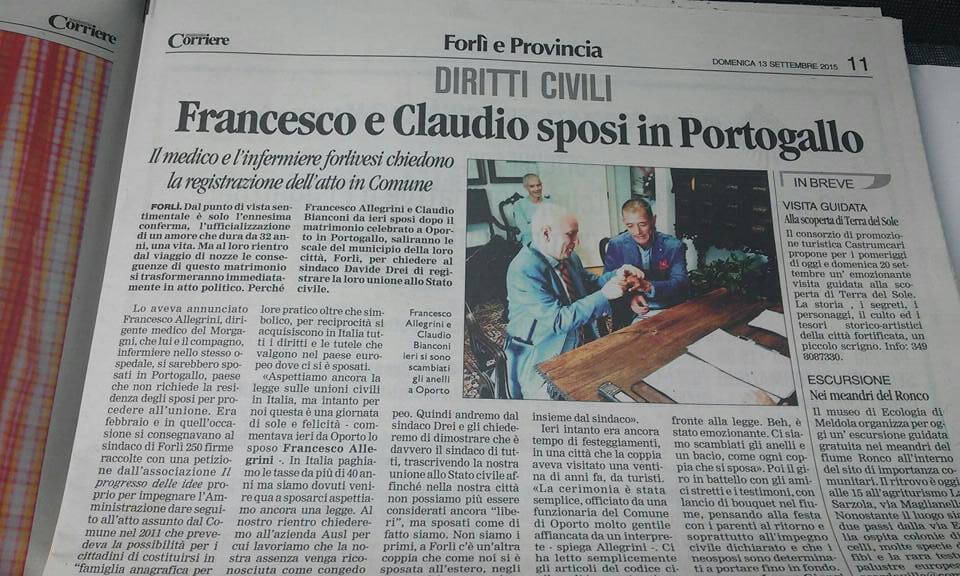 Le foto del matrimonio di Francesco e Claudio in Portogallo