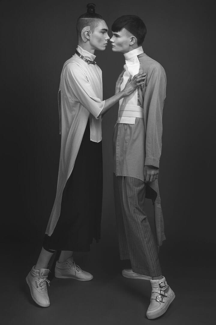 L'amore androgino raccontato nello shoot di due italiani a berlino