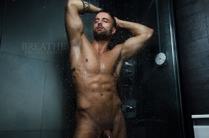 Julien_Sparrow_hot_shower_cock_dick