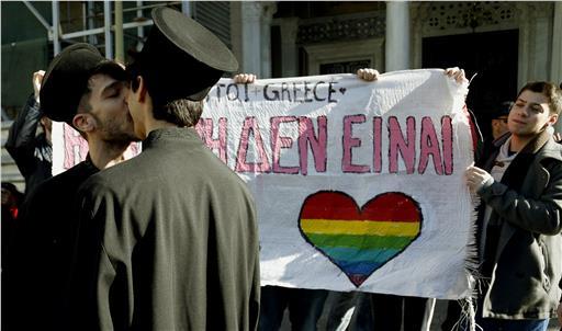 La Grecia verso le unioni civili: sit-in sotto il Parlamento