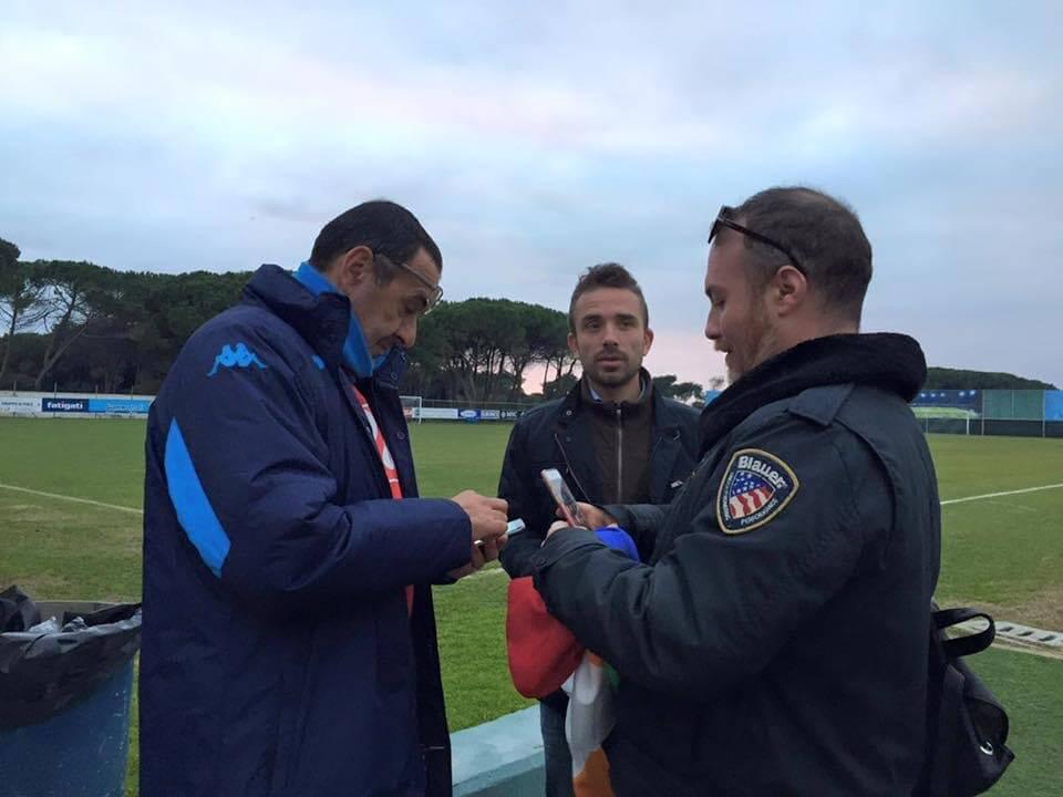 L'allenatore del Napoli Sarri incontra l'Arcigay: pace fatta