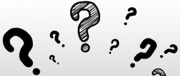 curiosità rappresentata con tanti punti interrogativi