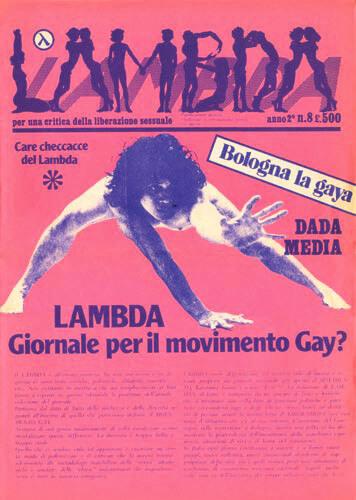 """""""Lambda"""" anno 2 n. 8. Testata disegnata da Marco Silombria."""