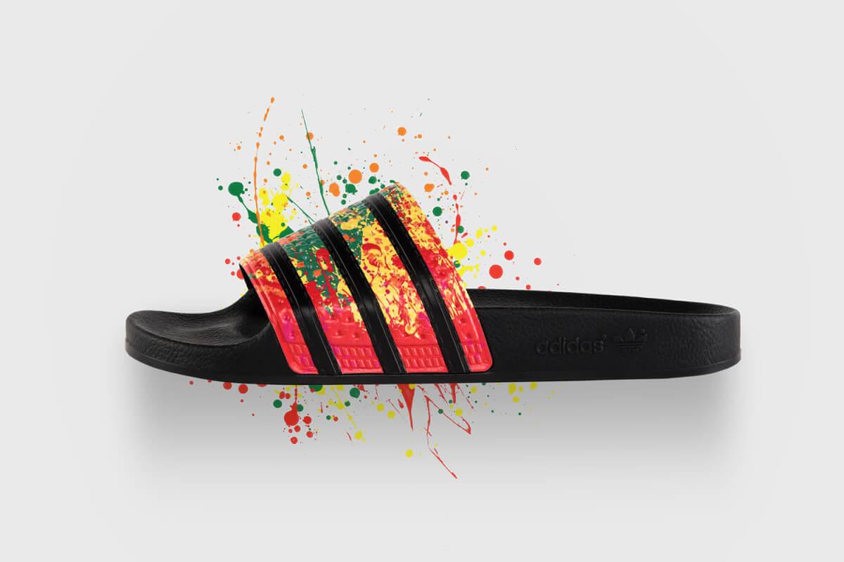 Schizzi di arcobaleno sulle sneaker