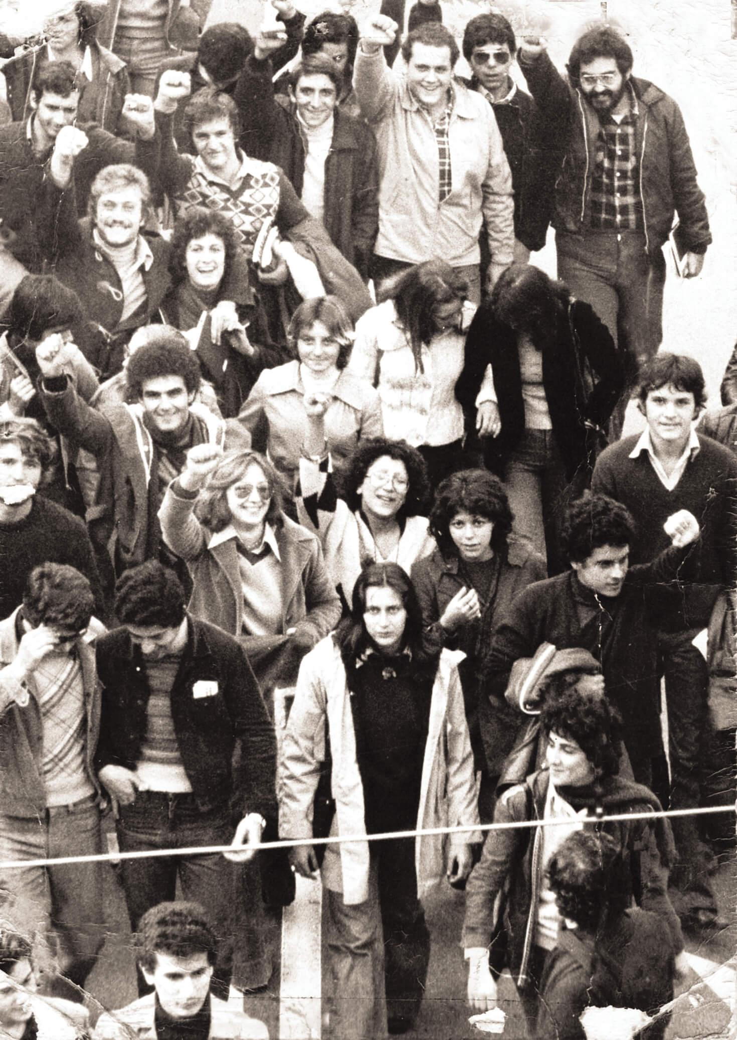 Una manifestazione a Bari nel 1975.