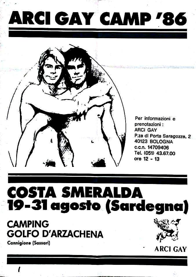 Il manifesto del gay camp in Costa Smeralda.