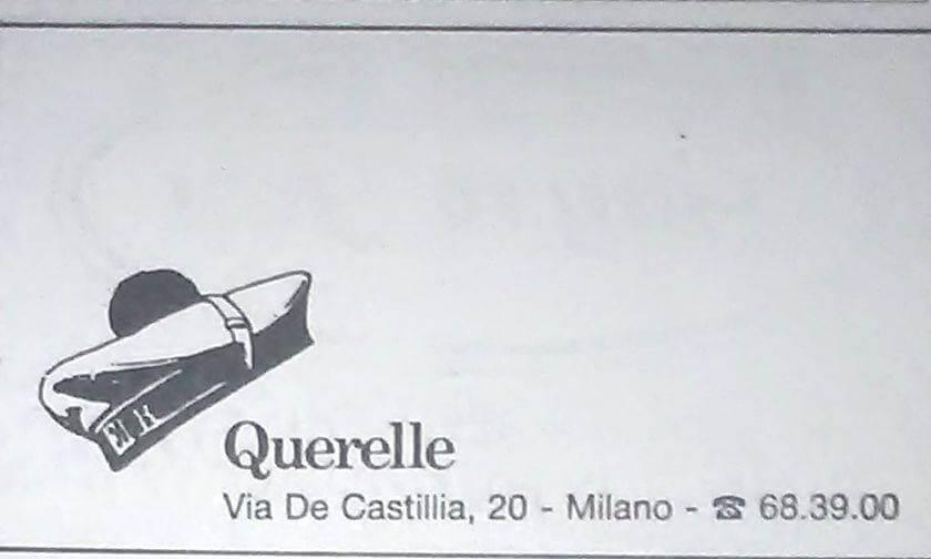 Logo del Querelle, locale aperto nel 1987 a Milano, di cui Felix Cossolo fu tra i cofondatori.