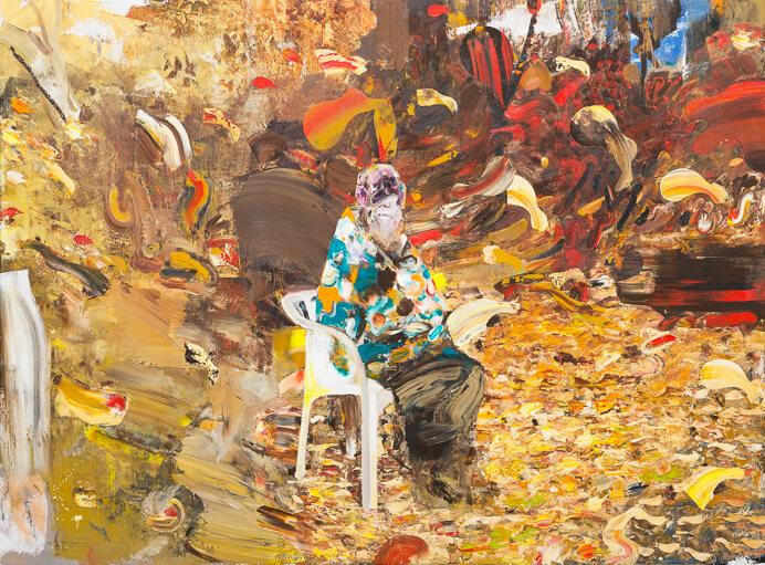 2014Adrian-Ghenie-Charles-Darwin-at-the-age-of-75-2014