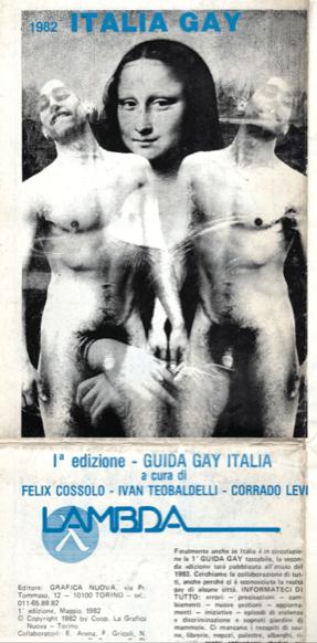 """L'edizione della prima guida gay gratuita a cura di """"Lambda"""", il modello della foto è Eriberto."""