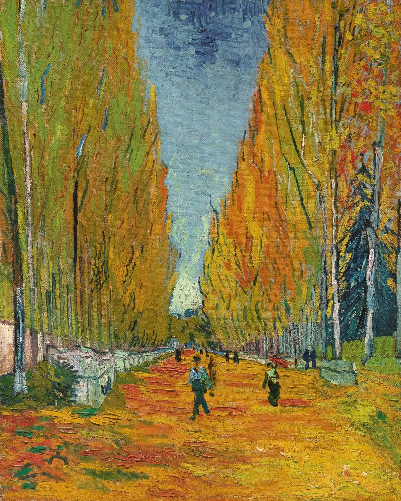 1888 L'allé des Alyscamps, Vincent van Gogh