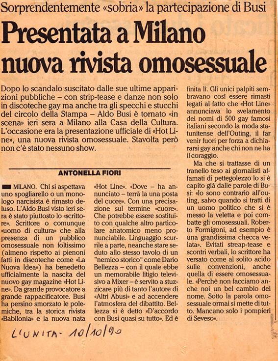 1990 hot line ritaglio420