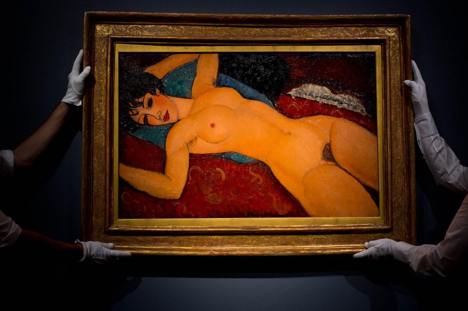 Amedeo Modigliani, Nu Couché, 1917-18