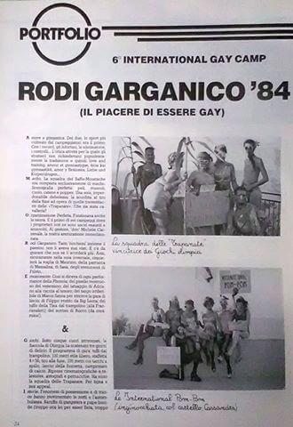 """""""Babilonia"""" numero 18, ottobre 1984. Servizio fotografico sul campeggio di Rodi Garganico."""