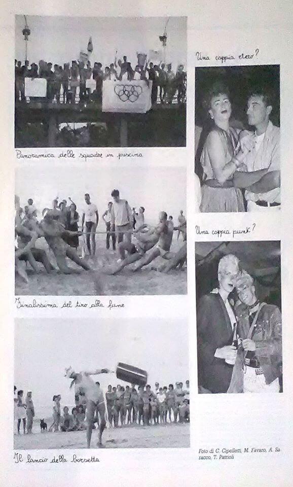 """Altri scatti dal servizio fotografico sul campeggio di Rodi Garganico, da """"Babilonia"""", numero 18, ottobre 1984."""