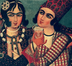 Embracing Lovers, Attributed to Muhammad Sadiq, Shiraz, circa 1770 – 80, Collection of Mrs. Eskandar Aryeh