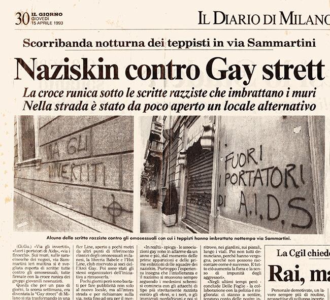gay street naziskin Il Giorno 15 apr 93